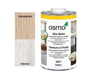 Teinture à l'huile Blanche OSMO pour traitement du bois