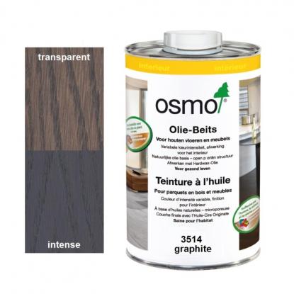 Teinture à l'huile OSMO Graphite pour parquet et bois