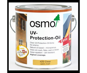 Huile de protection anti-UV pour bois 420 satin