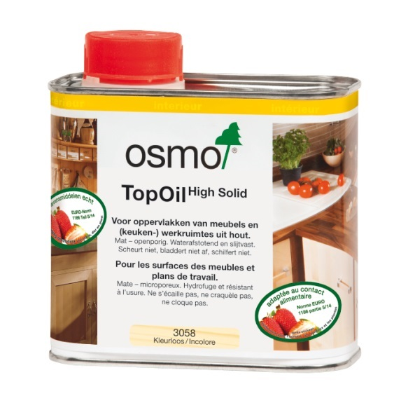 Huile cire Top Oil incolore pour surfaces bois - OSMO 3058