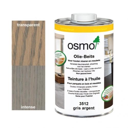 Teinture à l'huile OSMO Gris Argent pour parquet et bois