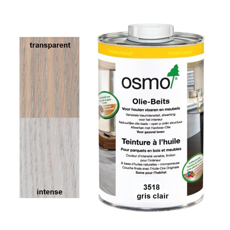 Teinture à l'huile OSMO gris clair pour parquet et bois