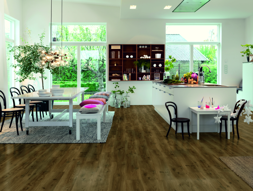 Sol vinyle 40019 optimium chêne moderne café planche
